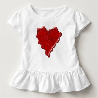 Camiseta Infantil Tiffany. Selo vermelho da cera do coração com