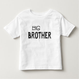Camiseta Infantil Tipografia preta & branca do big brother