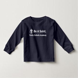 Camiseta Infantil Toddle o t-shirt da Longo-luva: Seja um santo