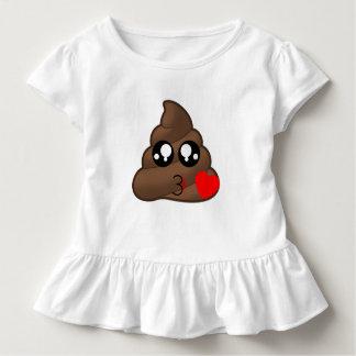 Camiseta Infantil Tombadilho Emoji do amor do coração