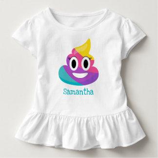 Camiseta Infantil Tombadilho Emoji do arco-íris