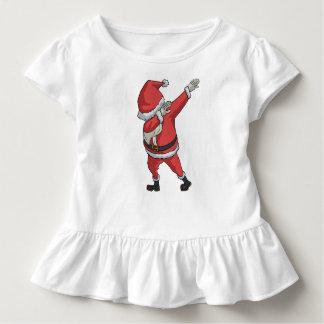Camiseta Infantil Toque ligeiro engraçado do Natal do t-shirt de