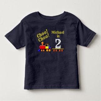 Camiseta Infantil Trem bonito personalizado do aniversário de Choo