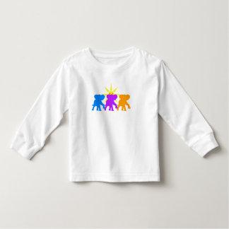 Camiseta Infantil Três elefantes felizes