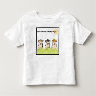 Camiseta Infantil Três porcos pequenos