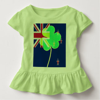 Camiseta Infantil Trevo St Patrick do trevo da bandeira de Nova