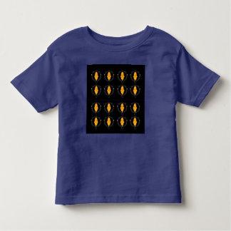 Camiseta Infantil Tshirt com blackgold dos ornamento