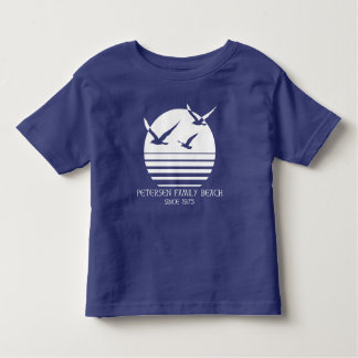 Camiseta Infantil TShirt da criança da praia da família de Petersen