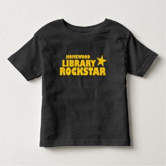 Camiseta Infantil Tshirt da criança de Rockstar da biblioteca de