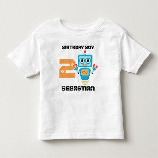 Camiseta Infantil Tshirt da idade do robô do aniversário