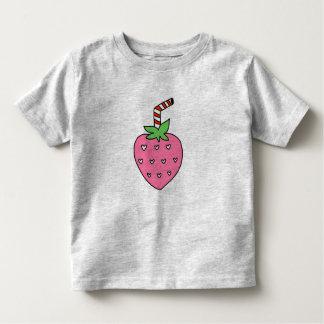 Camiseta Infantil TSHIRT do leite da morango, TSHIRT bonito da