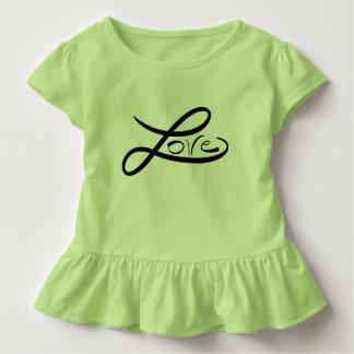 Camiseta Infantil Tshirt do plissado da criança do amor