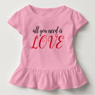 Camiseta Infantil Tudo que você precisa é AMOR