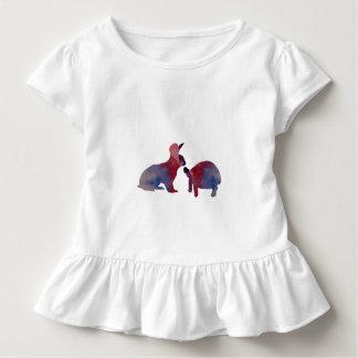 Camiseta Infantil Um coelho e uma tartaruga