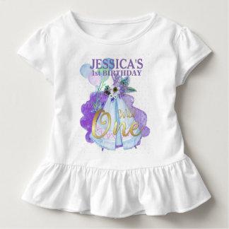 Camiseta Infantil Um TeePee azul selvagem Boho do primeiro