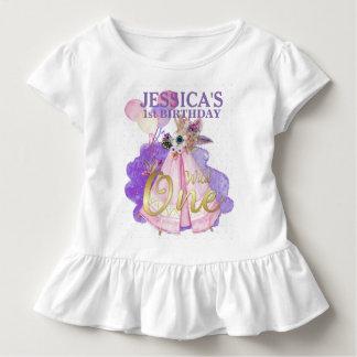 Camiseta Infantil Um TeePee cor-de-rosa selvagem Boho do primeiro