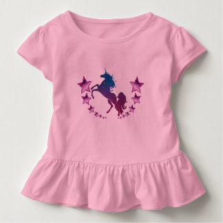 Camiseta Infantil Unicórnio com estrelas