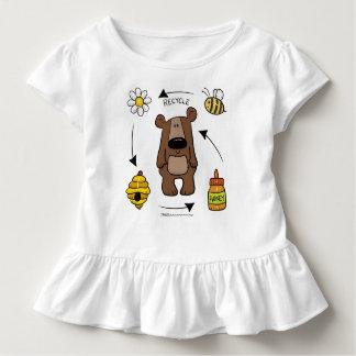 Camiseta Infantil Urso de mel o reciclador