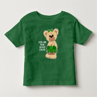 Camiseta Infantil Urso de ursinho com o t-shirt do dia de St Patrick