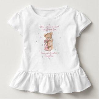 Camiseta Infantil Urso de ursinho gasto bonito da aguarela