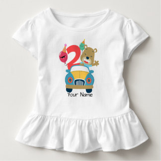Camiseta Infantil Urso do segundo aniversário