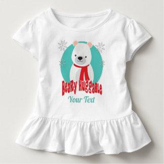 Camiseta Infantil Urso Huggable do Natal do inverno de Beary