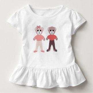 Camiseta Infantil Ursos do bebê do irmão & da irmã