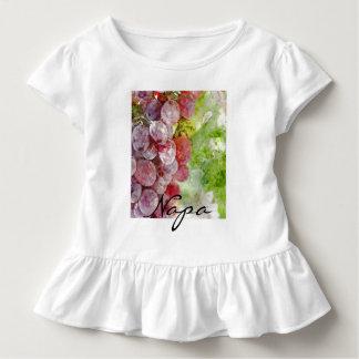 Camiseta Infantil Uvas roxas da aguarela de Napa Valley.