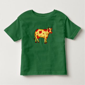 Camiseta Infantil Vaca de Brown do vetor