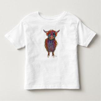 """Camiseta Infantil Vaca escocesa """"MacDOUGHNUT"""" das montanhas por"""