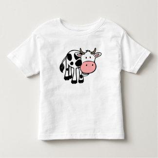 Camiseta Infantil Vaca feliz bonito, o t-shirt da criança