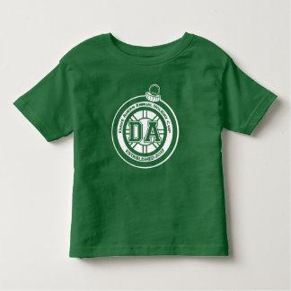Camiseta Infantil Verde do T da criança do copo do feriado anual de