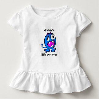 Camiseta Infantil Versão pequena do azul do monstro da mamã