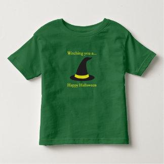 Camiseta Infantil Witching você um Dia das Bruxas feliz