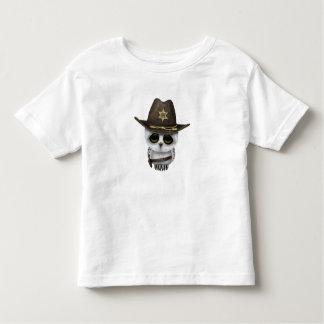 Camiseta Infantil Xerife bonito da coruja do bebê