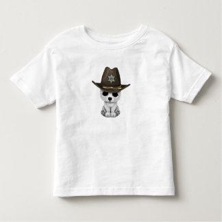 Camiseta Infantil Xerife bonito de Cub de urso polar do bebê