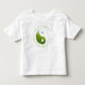 Camiseta Infantil Yin Yang - o equilíbrio da terra meu futuro