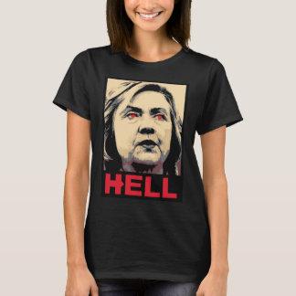 Camiseta Inferno curvado de Hillary Clinton - Anti-Hillary