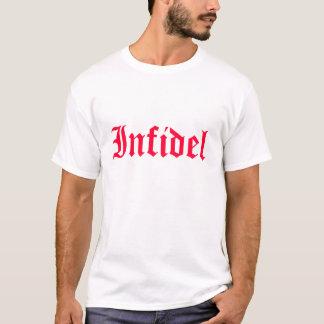 Camiseta Infiel na pia batismal vermelha