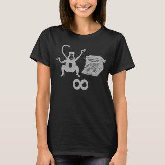Camiseta Infinidade engraçada da máquina de escrever do