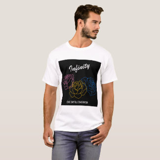 Camiseta Infinidade - t-shirt branco dos meninos do cobrir