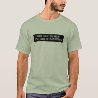 Camiseta Informação dada contente - reverso