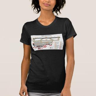 Camiseta Infra-estrutura básica da disposição do diagrama
