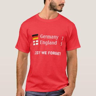 Camiseta Inglaterra 5 Alemanha 1 t-shirt