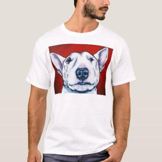 Camiseta Inglês branco bull terrier