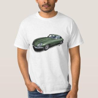 Camiseta Ingleses que competem o t-shirt verde do carro de