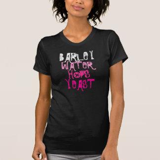Camiseta Ingredientes da cerveja das mulheres