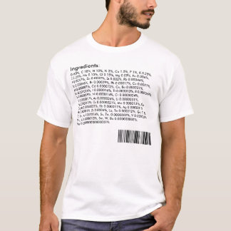 Camiseta Ingredientes do corpo humano: Mesa periódica