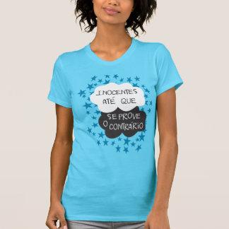 Camiseta Inocentes até que se prove o contrário