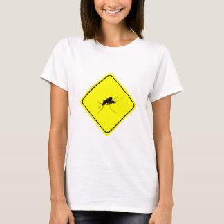 Camiseta Inseto do incômodo do sinal de aviso do
